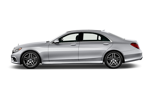 AUT 51 IZ2918 01 © Kimball Stock 2015 Mercedes Benz S-Class 550 4-Door Sedan Profile View In Studio
