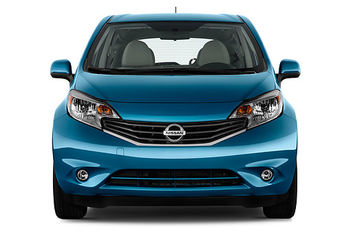 AUT 51 IZ2944 01 © Kimball Stock 2015 Nissan Versa Note 1.6s Plus CVT 5-Door Hatchback Front View In Studio