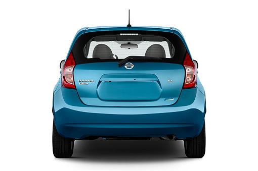 AUT 51 IZ2945 01 © Kimball Stock 2015 Nissan Versa Note 1.6s Plus CVT 5-Door Hatchback Rear View In Studio