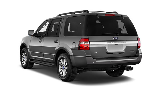 AUT 51 IZ3020 01 © Kimball Stock 2015 Ford Expedition XLT 5-Door SUV 3/4 Rear View In Studio