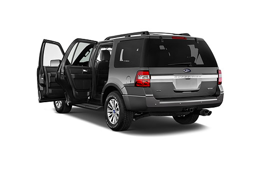 AUT 51 IZ3021 01 © Kimball Stock 2015 Ford Expedition XLT 5-Door SUV 3/4 Rear View In Studio