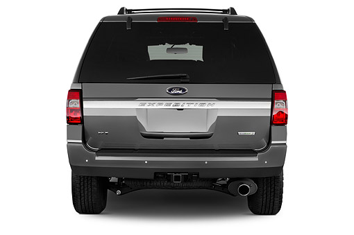 AUT 51 IZ3023 01 © Kimball Stock 2015 Ford Expedition XLT 5-Door SUV Rear View In Studio
