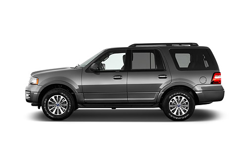 AUT 51 IZ3024 01 © Kimball Stock 2015 Ford Expedition XLT 5-Door SUV Profile View In Studio