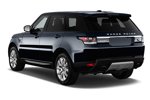 AUT 51 IZ3036 01 © Kimball Stock 2015 Land Rover Range Rover Sport HSE 5-Door SUV 3/4 Rear View In Studio
