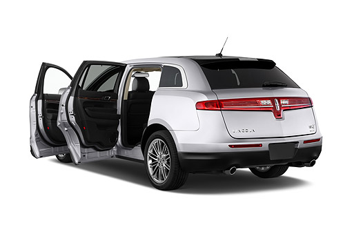 AUT 51 IZ3044 01 © Kimball Stock 2015 Lincoln MKT FWD 5-Door Wagon 3/4 Rear View In Studio