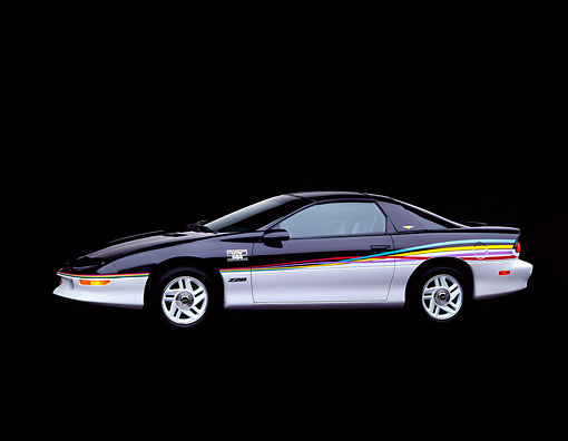 CAM 04 RK0012 03 © Kimball Stock 1993 Chevrolet Camaro Pace Car 3/4 Side View Studio