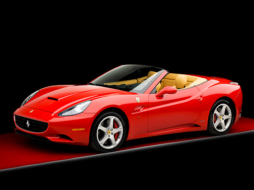 FRR 04 RK0599 01 © Kimball Stock 2009 Ferrari California Red 3/4 Front View Studio
