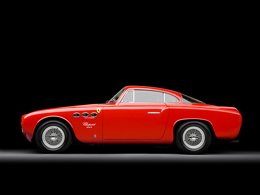 FRR 04 RK0506 01 © Kimball Stock 1952 Ferrari 212 Inter Vignale Red Profile View Studio