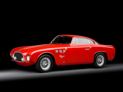 FRR 04 RK0507 01 © Kimball Stock 1952 Ferrari 212 Inter Vignale Red 3/4 Front View Studio