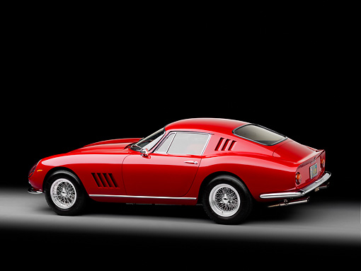 FRR 04 RK0575 01 © Kimball Stock 1965 Ferrari 275 GT/B Red  3/4 Rear View Studio