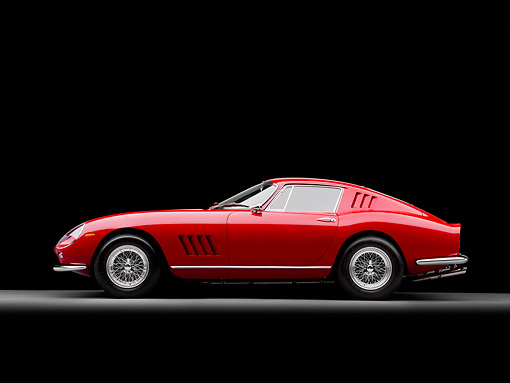 FRR 04 RK0576 01 © Kimball Stock 1965 Ferrari 275 GT/B Red  Profile View Studio