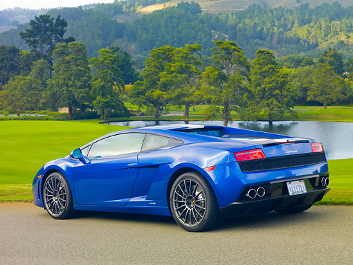2010 Lamborghini Gallardo Lp550 2 Valentino Balboni Blue 3 4 Rear
