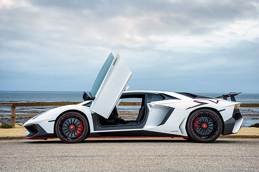 Lamborghini car stock photos kimballstock lam 01 rk0932 01 kimball stock 2017 lamborghini lp 750 4v white profile view by publicscrutiny Gallery