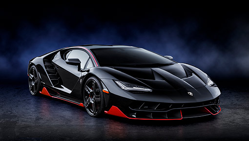 2017 Lamborghini Centenario Lp 770 4 Black 3 4 Front View In Studio