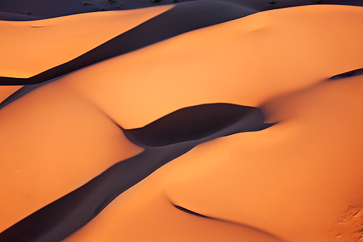 LAN 01 MH0034 01 © Kimball Stock Aerial View Of Red Sand Dunes Namib Desert