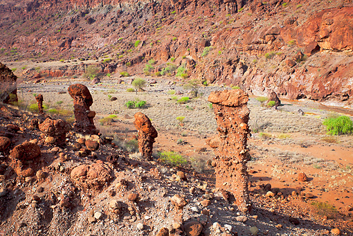 LAN 01 MH0074 01 © Kimball Stock Hoodoo Rock Formations And Soil Erosion In Northern Kenya