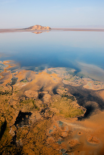 LAN 01 MH0077 01 © Kimball Stock Lake Logipi (Saline Alkaline Lake) In Suguta Valley, Northern Kenya