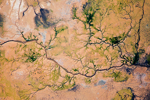 LAN 01 MH0078 01 © Kimball Stock Aerial View Of Lake Logipi (Saline Alkaline Lake) In Suguta Valley, Northern Kenya