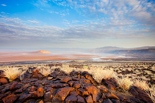 LAN 01 MH0080 01 © Kimball Stock Lake Logipi (Saline Alkaline Lake) In Suguta Valley, Northern Kenya