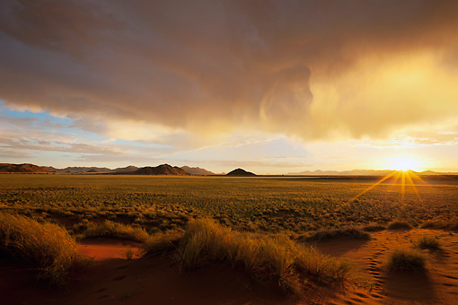 LAN 01 MH0105 01 © Kimball Stock NamibRand Nature Reserve At Sunset In Southwestern Namibia