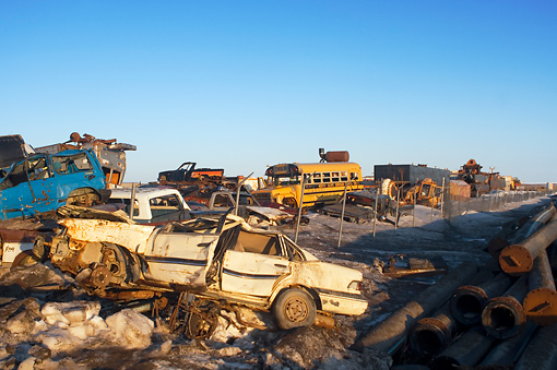 LAN 02 SK0002 01 © Kimball Stock Junkyard In Barrow, Alaska