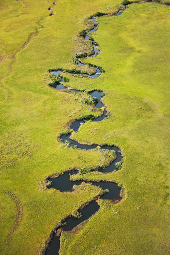 LAN 04 MH0025 01 © Kimball Stock Aerial View Of Gran Sabana With Rivers From Abundant Rainfall