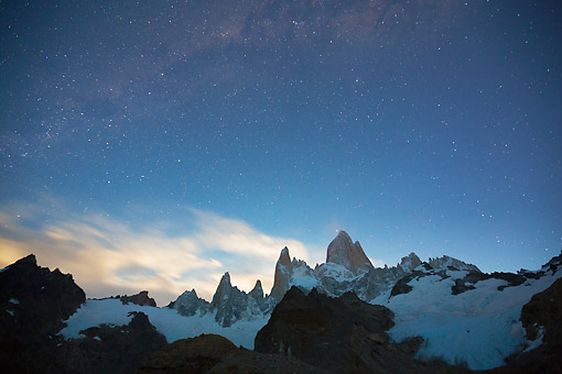 LAN 04 MH0044 01 © Kimball Stock Stars Over Fitz Roy Massif In Patagonia, Argentina
