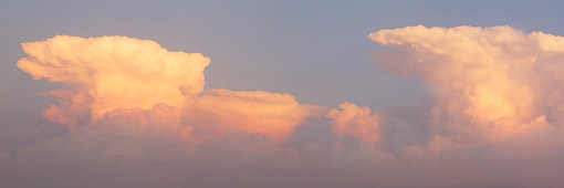 LAN 07 DA0011 01 © Kimball Stock Panorama Of Storm Clouds At Sunset In Marion County, Illinois