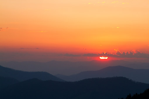 LAN 07 DA0027 01 © Kimball Stock Sunset At Clingman's Dome In Great Smoky Mountains National Park, Tennessee