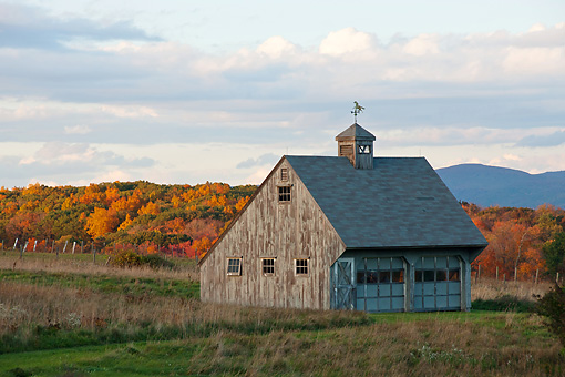 LAN 07 DS0014 01 © Kimball Stock Barn By Fall Foliage In Millbrook, New York