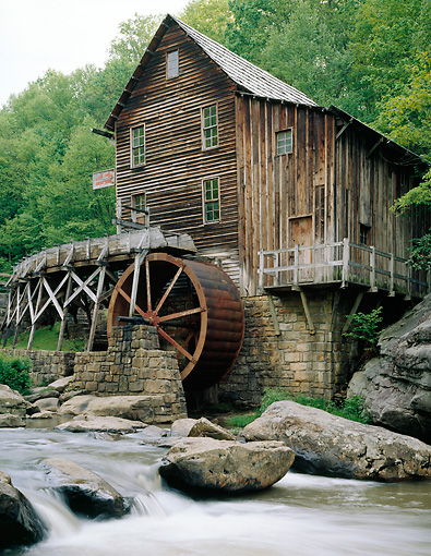 LAN 07 GR0043 01 © Kimball Stock Glade Creek Mill At Babcock State Park, West Virginia