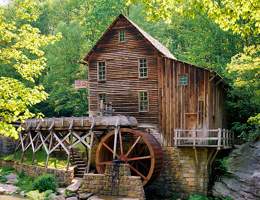 LAN 07 GR0044 01 © Kimball Stock Glade Creek Mill At Babcock State Park, West Virginia