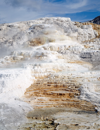 LAN 07 GR0062 01 © Kimball Stock Mammoth Hot Springs In Yellowstone National Park, Wyoming