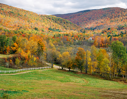 LAN 07 GR0115 01 © Kimball Stock Vermont Countryside In Autumn