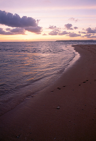 LAN 07 MR0022 01 © Kimball Stock Beach At Sunset North Shore Kauai Hawaii