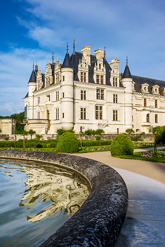 LAN 08 KH0138 01 © Kimball Stock Chateau De Chenonceau In France
