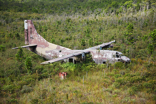 LAN 09 MH0005 01 © Kimball Stock Airplane Wreck In The Remote Forest Of Venezuela