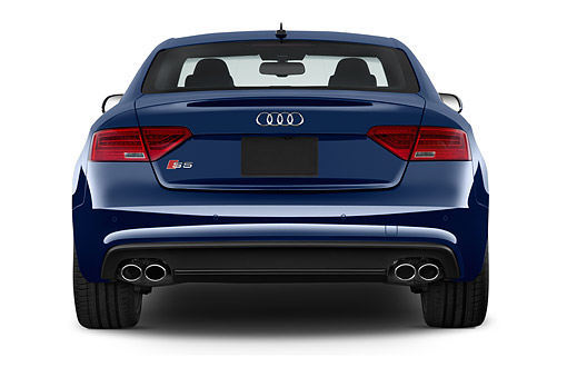 AUT 50 IZ0110 01 © Kimball Stock 2014 Audi S4 3.0t Quattro Manual Premium Plus 4-Door Sedan Rear View In Studio