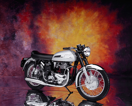 MOT 01 RK0582 02 © Kimball Stock 1966 Norton Atlas Black And Silver