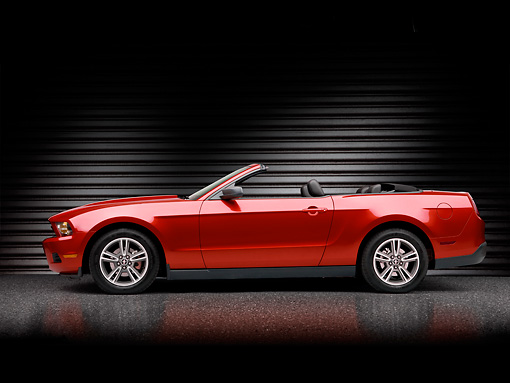 MST 01 RK1252 01 © Kimball Stock 2010 Ford Mustang Red Profile Studio