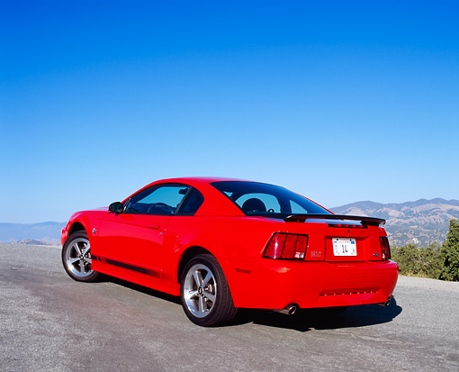 MST 01 RK0665 01 © Kimball Stock 2004 Ford Mustang Mach 1 40th Anniversary Orange And Black