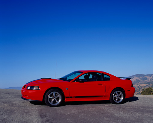 MST 01 RK0666 02 © Kimball Stock 2004 Ford Mustang Mach 1 40th Anniversary Orange And Black