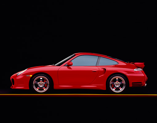 POR 03 RK0138 06 © Kimball Stock 2003 Porsche Turbo X50 Red Profile Studio