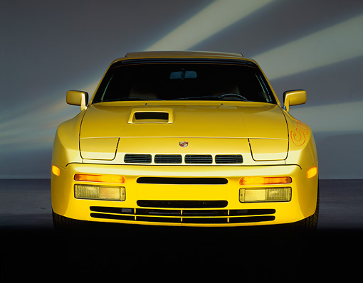 POR 04 RK0080 05 © Kimball Stock 1980 Porsche Carrera GTS Gold Head On Shot Studio