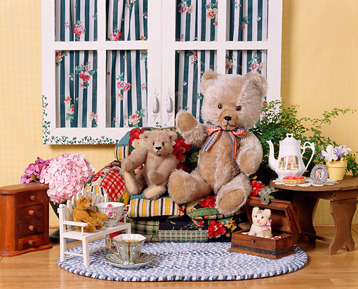 TED 01 RK0056 12 © Kimball Stock Teddy Bear Tea Party