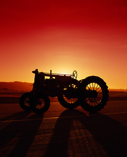 TRA 01 RK0005 03 © Kimball Stock Farmall F-12 Tractor Sunset