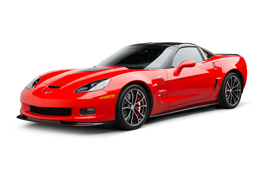 VET 01 BK0006 01 © Kimball Stock 2013 Chevrolet Corvette ZR1 Red 3/4 Front View On White Seamless