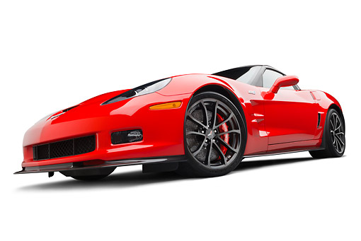 VET 01 BK0007 01 © Kimball Stock 2013 Chevrolet Corvette ZR1 Red 3/4 Front View On White Seamless