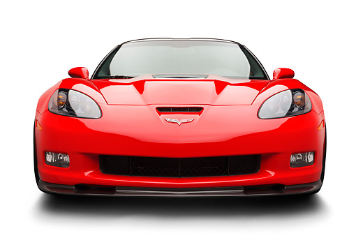 VET 01 BK0014 01 © Kimball Stock 2013 Chevrolet Corvette ZR1 Red Front View On White Seamless