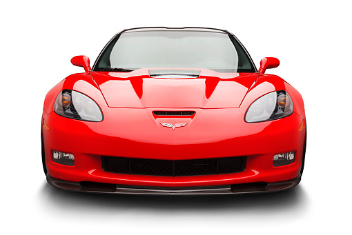 VET 01 BK0015 01 © Kimball Stock 2013 Chevrolet Corvette ZR1 Red Front View On White Seamless